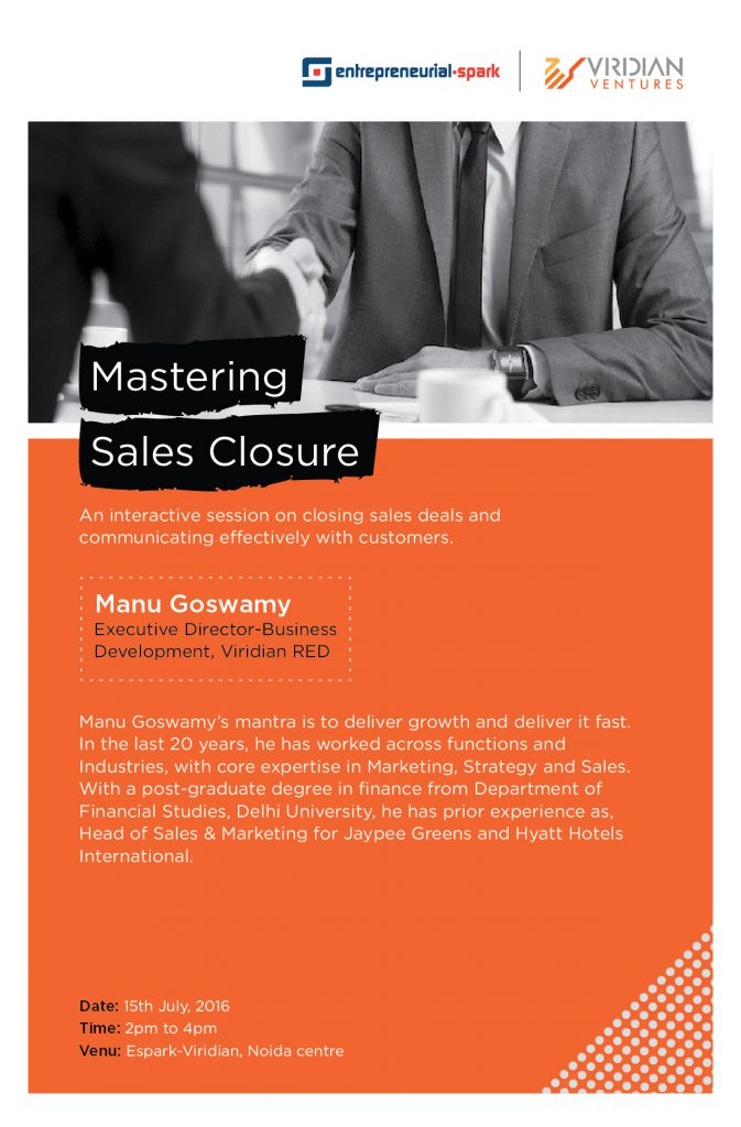 Sales Closure with Manu Goswamy - Espark Viridian